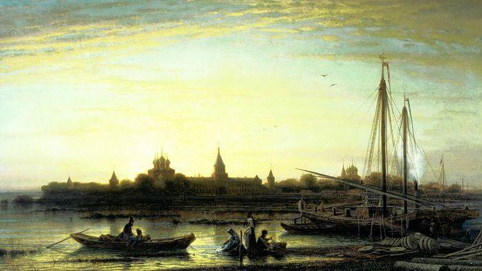 А.Боголюбов Ипатьевский монастырь на реке Костроме. 1861. Холст, масло.