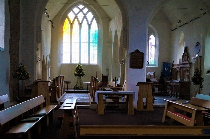 Interior of St. John the Baptist's Church in Reedham, Norfolk (photo kindly provided by the churchwarden of Reedham church)