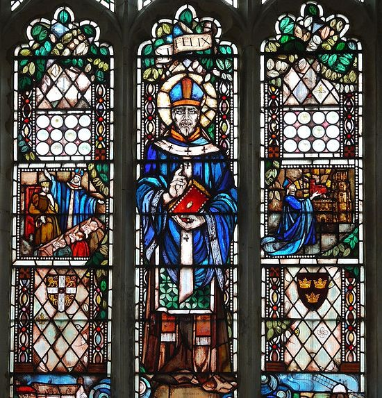 St. Felix Window inside St. Andrew's Church in Soham, Cambs (photo kindly provided by the Soham church)
