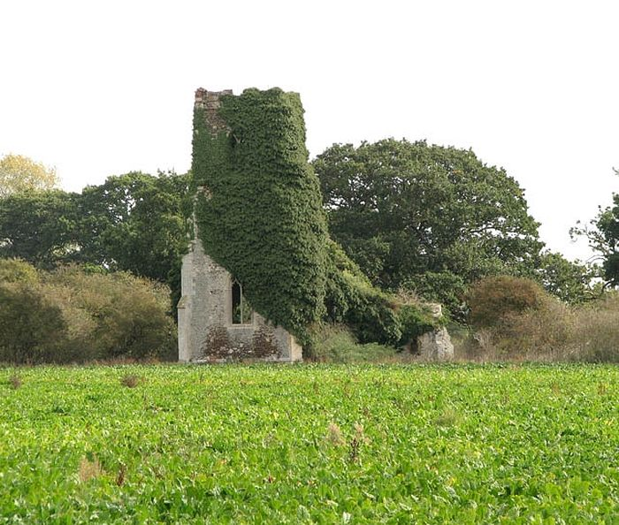 The ruined Church of St. Felix in Babingley, Norfolk