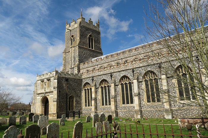 The south side and porch of the Holy Trinity Church at Loddon, Norfolk (photo kindly provided by rector of the Loddon church)