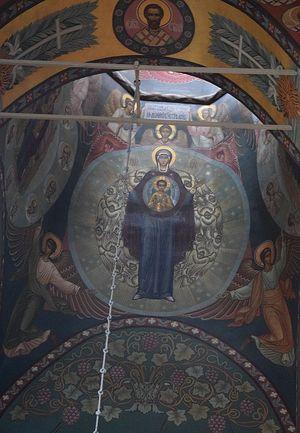 Фреска Успенского собора Иосифо-Волоцкого монастыря.