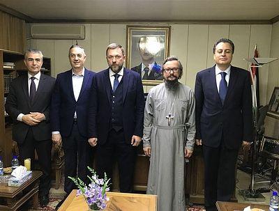 Российская делегация обсудила в Сирии вопросы восстановления древнего монастыря в Маалюле