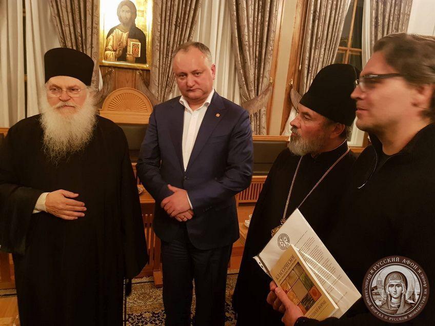Президент Молдовы прибыл на Афон, где намерен создать международную организацию «Друзья Православия»