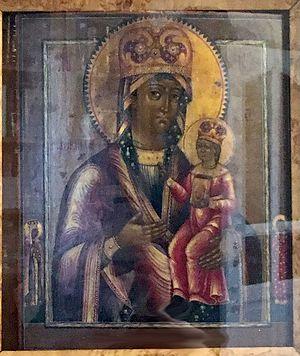 Рудненская икона в келье отца Георгия Бреева