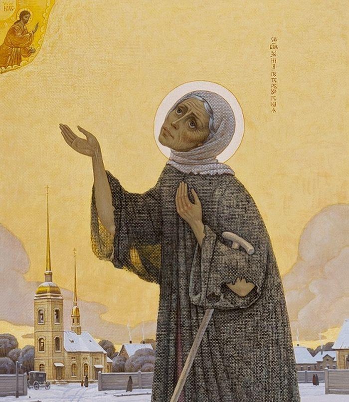 А. Простев. Блаженная Ксения и церковь Апостола Матфия