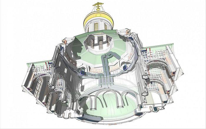 Храм Сретенского монастыря: BIM-модель