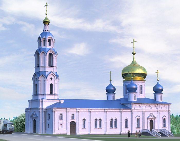 Тихвинская церковь. Проект реставрации и воссоздания колокольни.