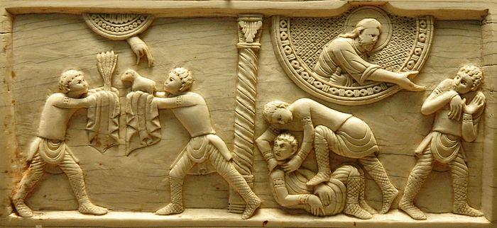 Каин и Авель. Табличка из слоновой кости