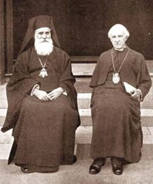 Metropolitan Meletios and the Archbishop of Canterbury, Cosmo Lang, at the Lambeth Conference in 1930