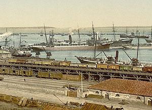 Одесса. Практическая гавань. Открытка начала XX века.