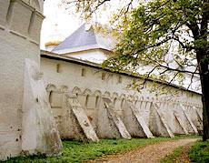 Саввино-Сторожевский монастырь. Монастырские стены.