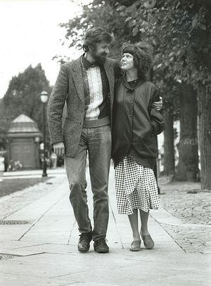 Irina Ratushinskaya with her husband, Igor Gerashenko