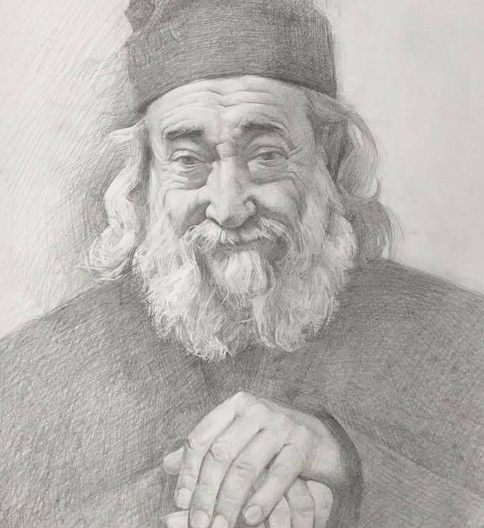 Το πορτραίτο του Γέροντα Γρηγορίου. Το έχει ζωγραφίσει δόκιμη μοναχή της γυναικείας μονής Ολσάνσκιϊ και το έχει δωρίσει στην αδελφότητα της Ιεράς Μονής Δοχειαρίου
