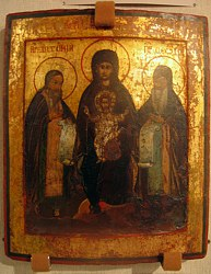 Загрузить увеличенное изображение. 402x500px. Размер файла 74,93kb Печерская (Свенская) икона Божией Матери