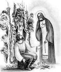 Беседа святого Серафима с Н. Мотовиловым. Рис. Светланы Кузнецовой
