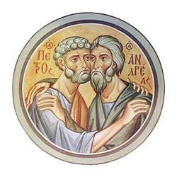 Апостолы Петр и Андрей.