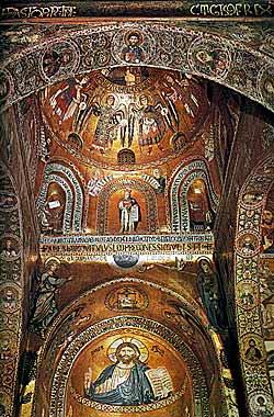 Вид на алтарную часть Палатинской капеллы. Середина XII в. Палермо. Сицилия