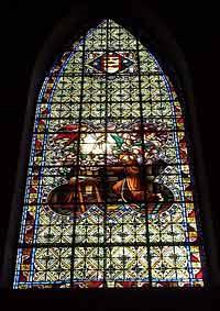 Витраж в храме святого Ерменигельда