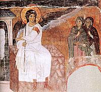 Фреска церкви Вознесения в монастыре Милешево, Сербия. До 1228 г.