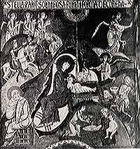 Рождество Христово. Мозаика.12 век. Палатинская капелла в Палермо,Сицилия