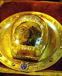 Передняя часть главы святого Иоанна Предтечи в кафедральном соборе Пресвятой Богородицы г. Амьена
