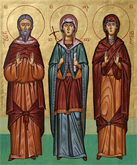 Sts. Zabulon and Sosana with St. Nino.