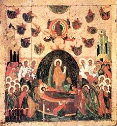 Успение Богоматери. Икона. Около 1479 г. Успенский собор Московского Кремля