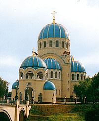 Патриаршее подворье — храм Живоначальной Троицы в Орехово-Борисово.