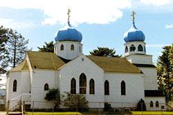 Храм Воскресения Христова на о. Кадьяк(Аляска), сооруженный в 1794 году.
