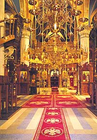 Интерьер соборного храма мужского монастыря Махера