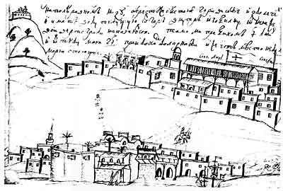 Ларнака. Рисунок Василия Григоровича-Барского. XVIII век.