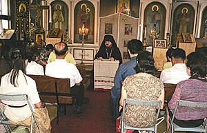 Лекция иеромонаха Герасима в Нагоя