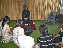 Встреча иеромонаха Герасима с прихожанами Ханда