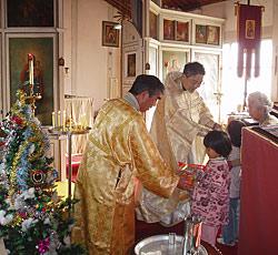 Рождественская служба в Ханда