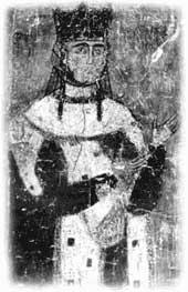 Царица Тамара. Фреска храма в Бетании (ок. 1210 г.)