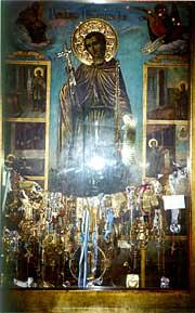 Икона св. Иоанна Русского в Прокопио на о. Эвбея. <BR>Фото Ольги Куровой